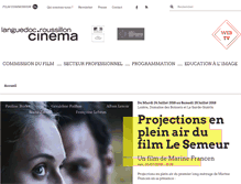 Tablet Preview of languedoc-roussillon-cinema.fr